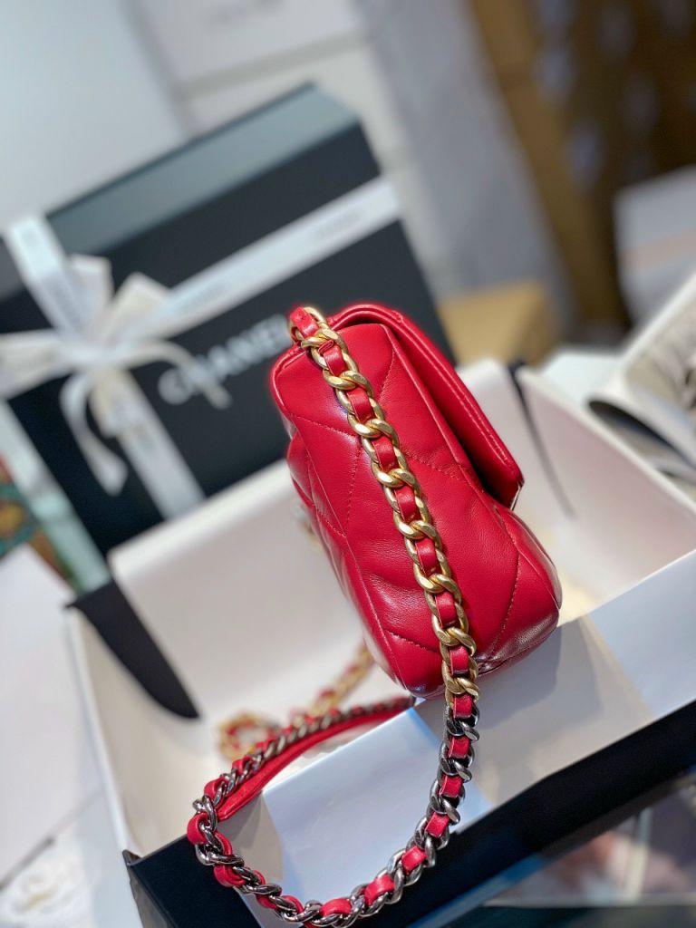 Túi Xách Chanel 19 Flap Bag - Đỏ Tươi