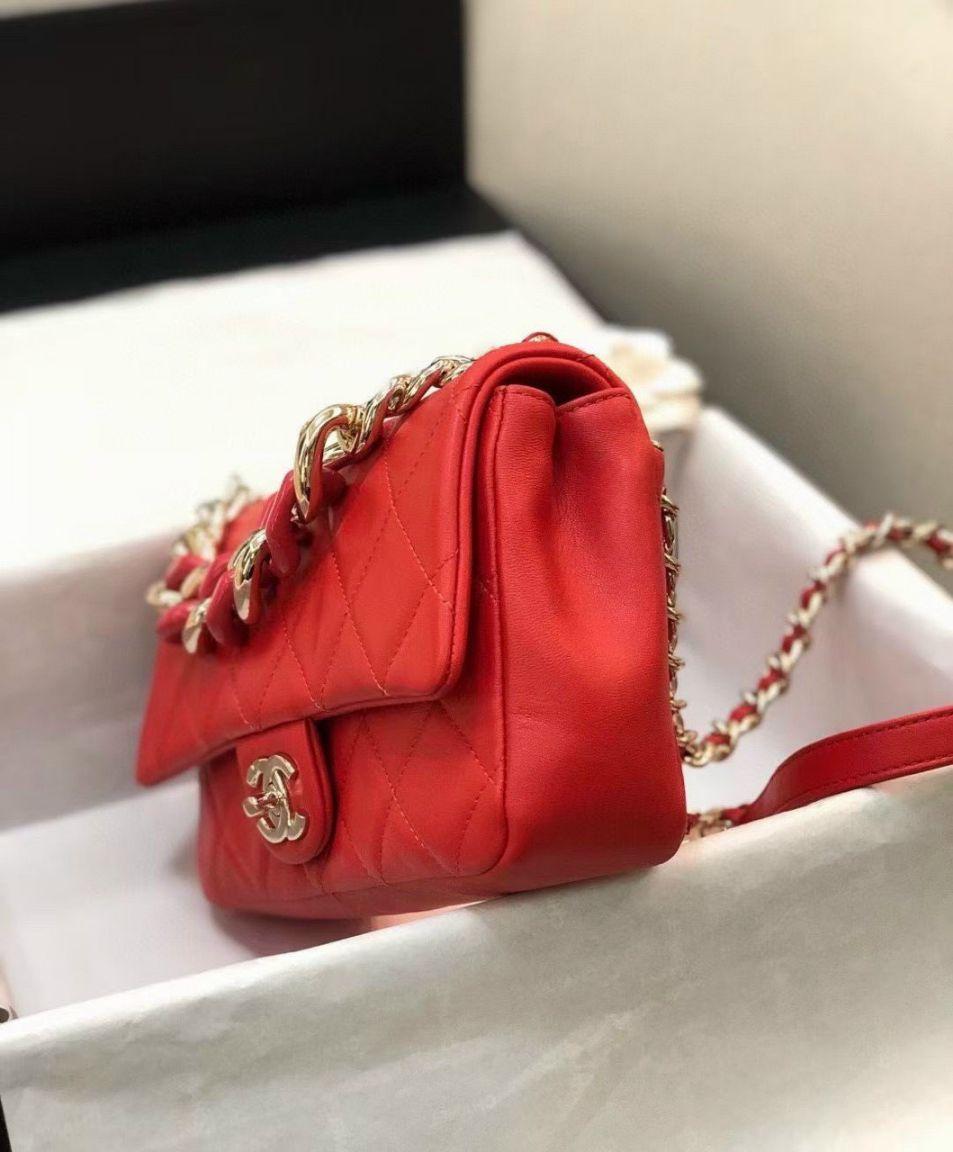 Túi Xách Chanel 19 Large Flap Bag - Đỏ