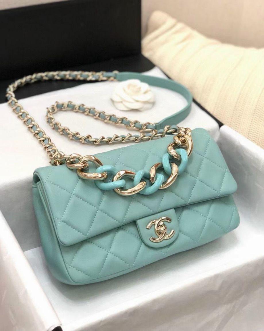 Túi Xách Chanel 19 Large Flap Bag - Xanh