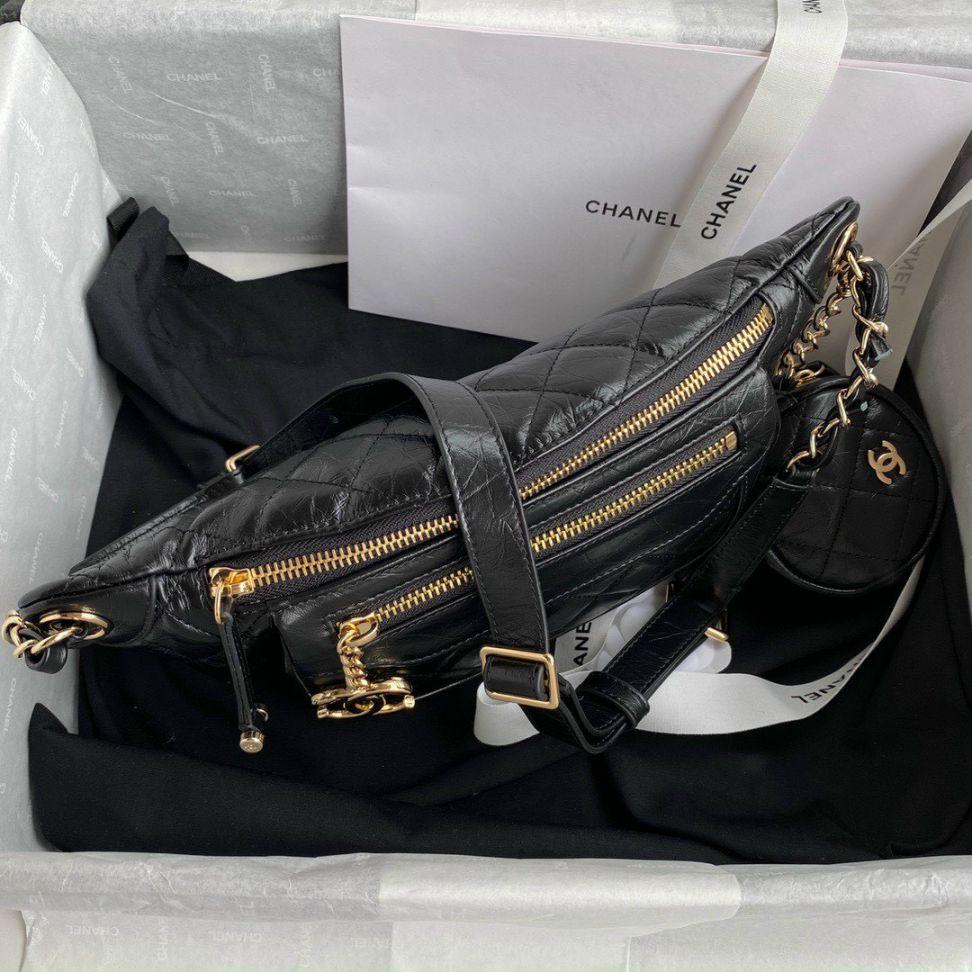 Chanel Aged Calfskin Pocket Fanny Pack