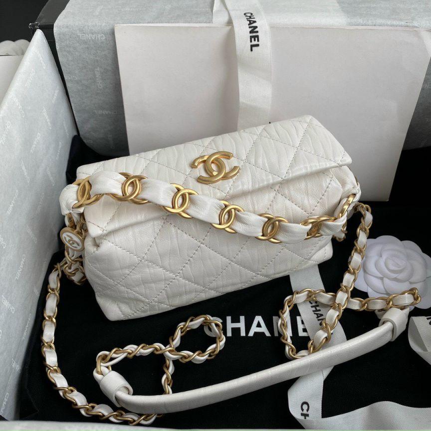 Túi Xách Chanel Box - Trắng