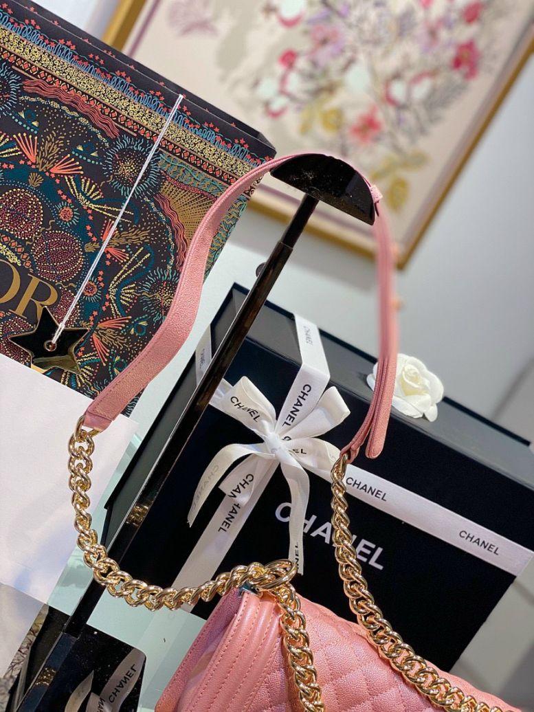 Túi Xách Chanel Boy – Hồng Nhũ