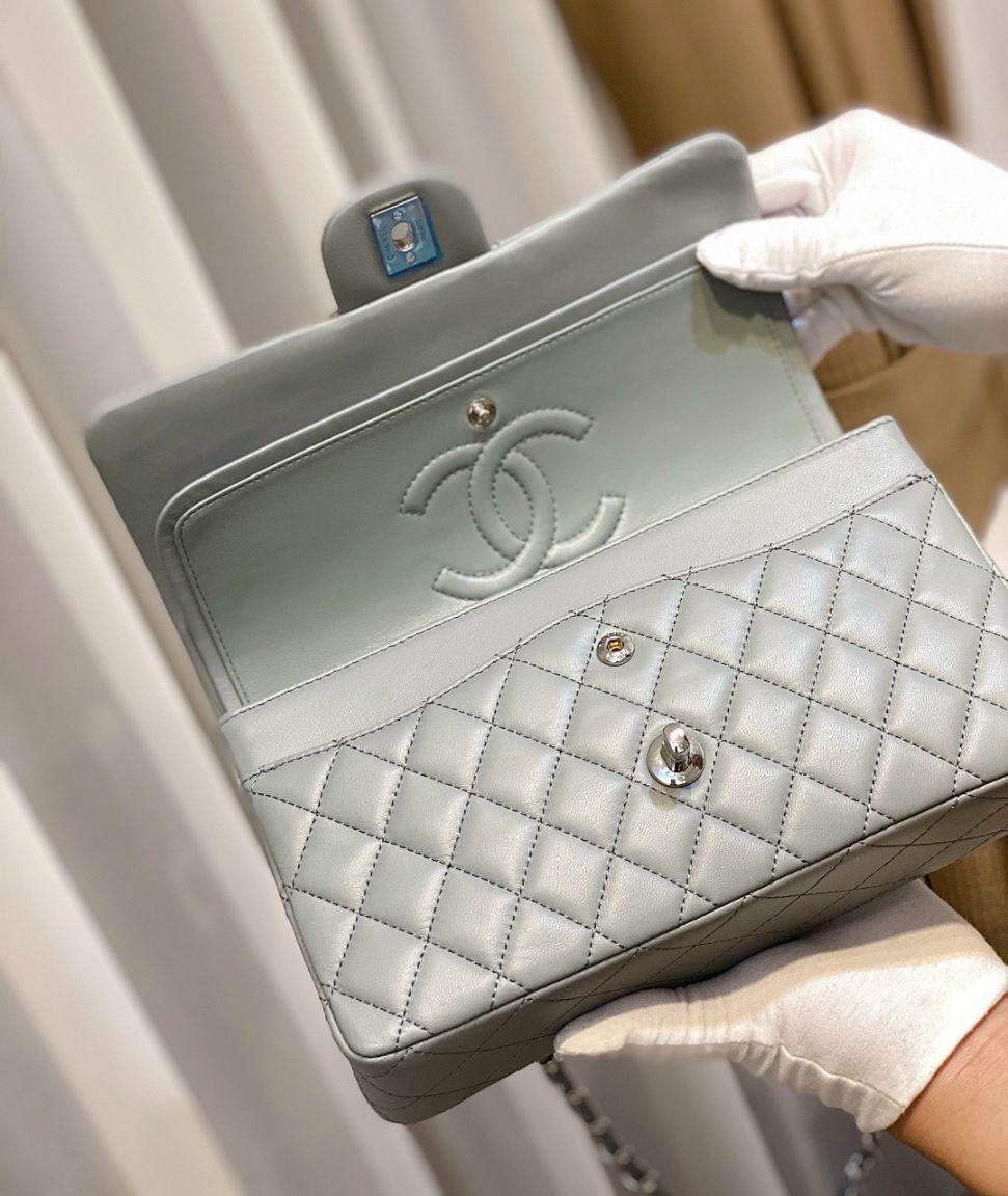 Túi Xách Chanel Classic – Xanh Nhũ