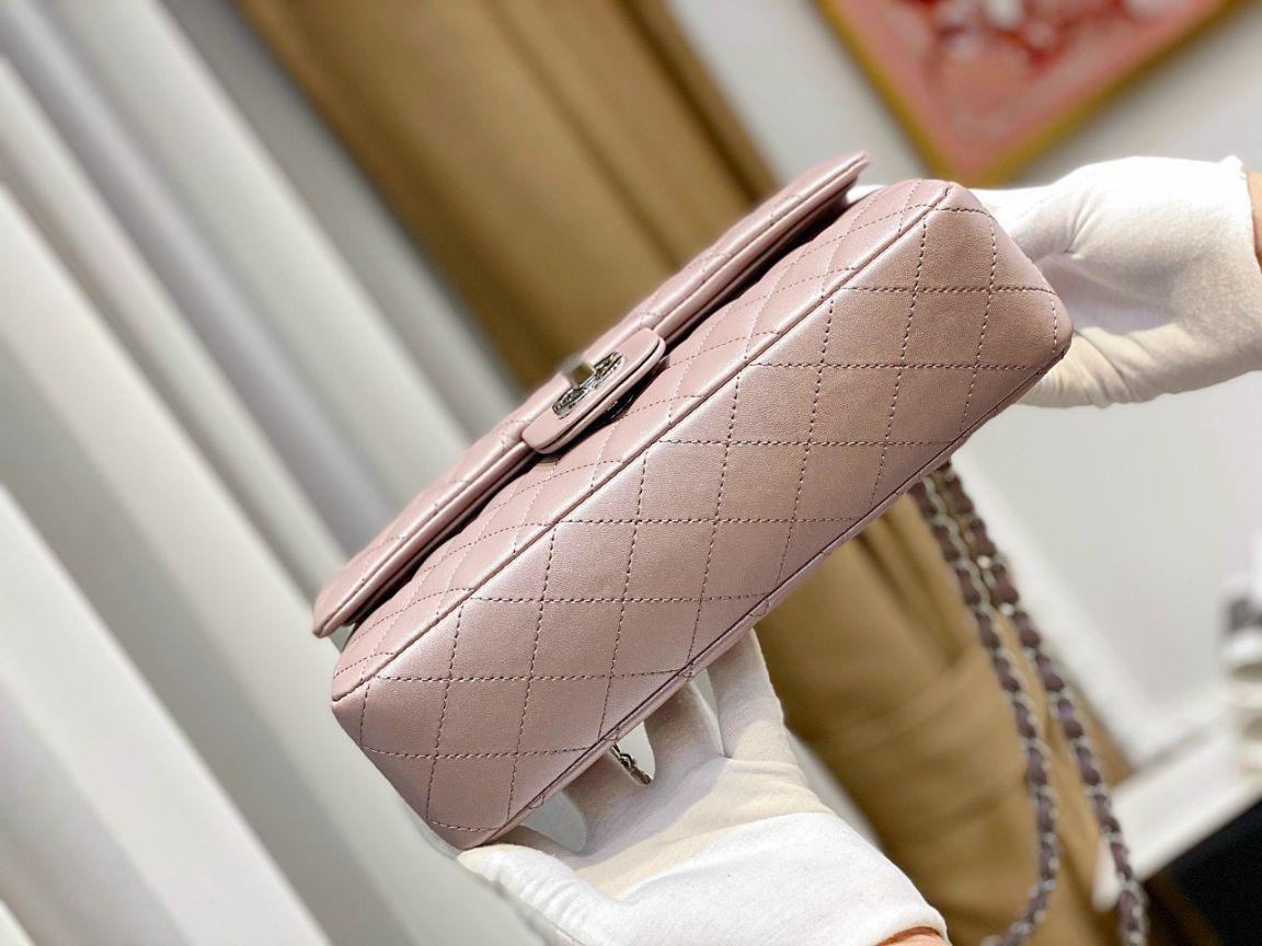 Túi Xách Chanel Classic – Hồng Nhũ