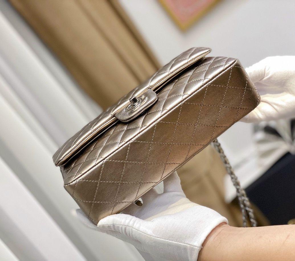 Túi Xách Chanel Classic – Đồng Nhũ