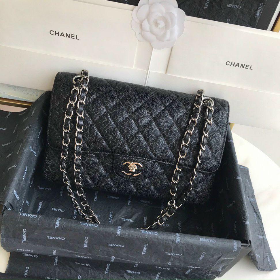 Túi Xách Chanel Classic – Đen Khóa Vàng