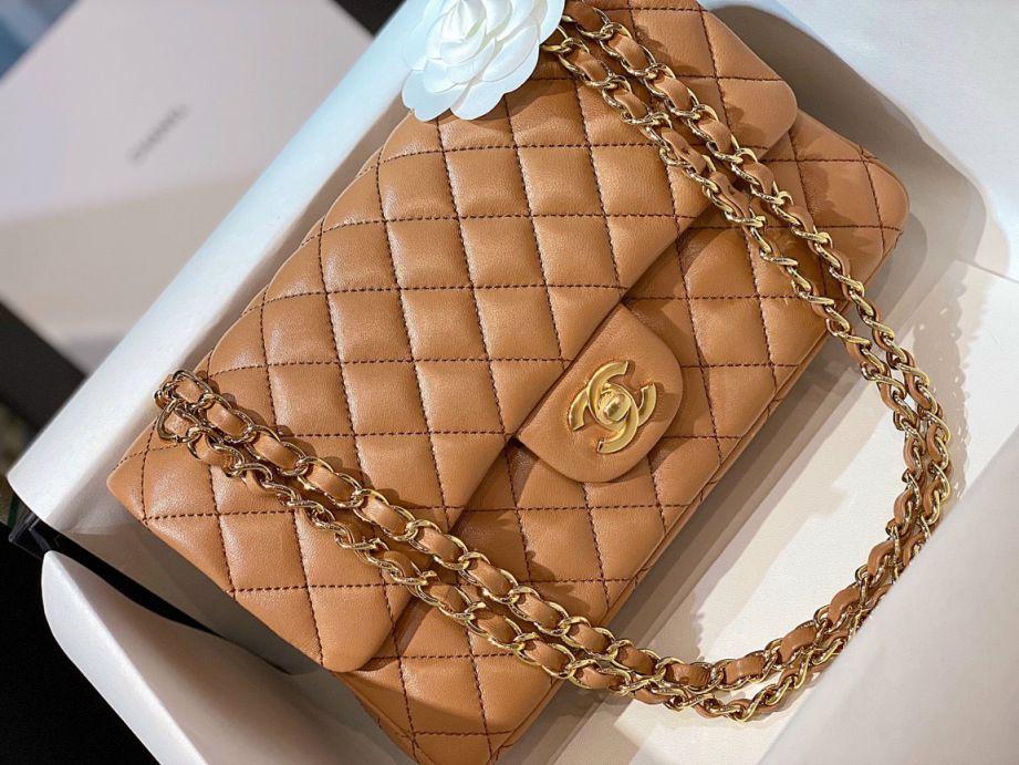Túi Xách Chanel Classic Nâu
