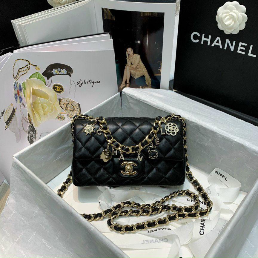 Túi Xách Chanel Classic Charm - Đen