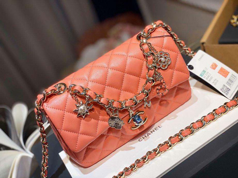 Túi Xách Chanel Classic Charm - Cam