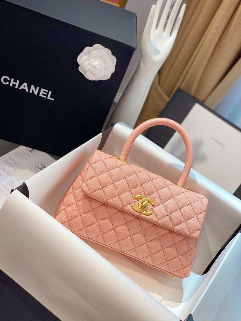 Túi Xách Chanel Coco Mini – Hồng Cam
