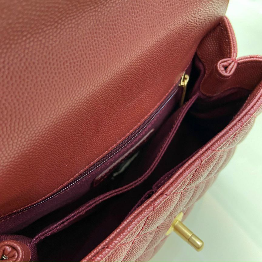 Túi Xách Chanel Coco Mini – Đỏ Mận