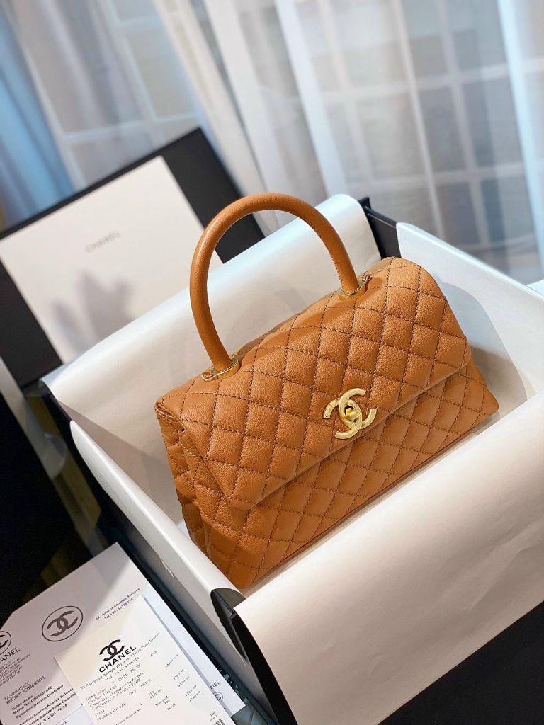 Túi Xách Chanel Coco Mini – Nâu Be