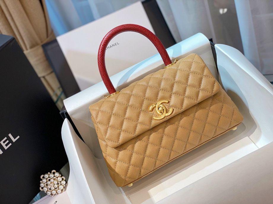 Túi Xách Chanel Coco Mini – Be Vàng