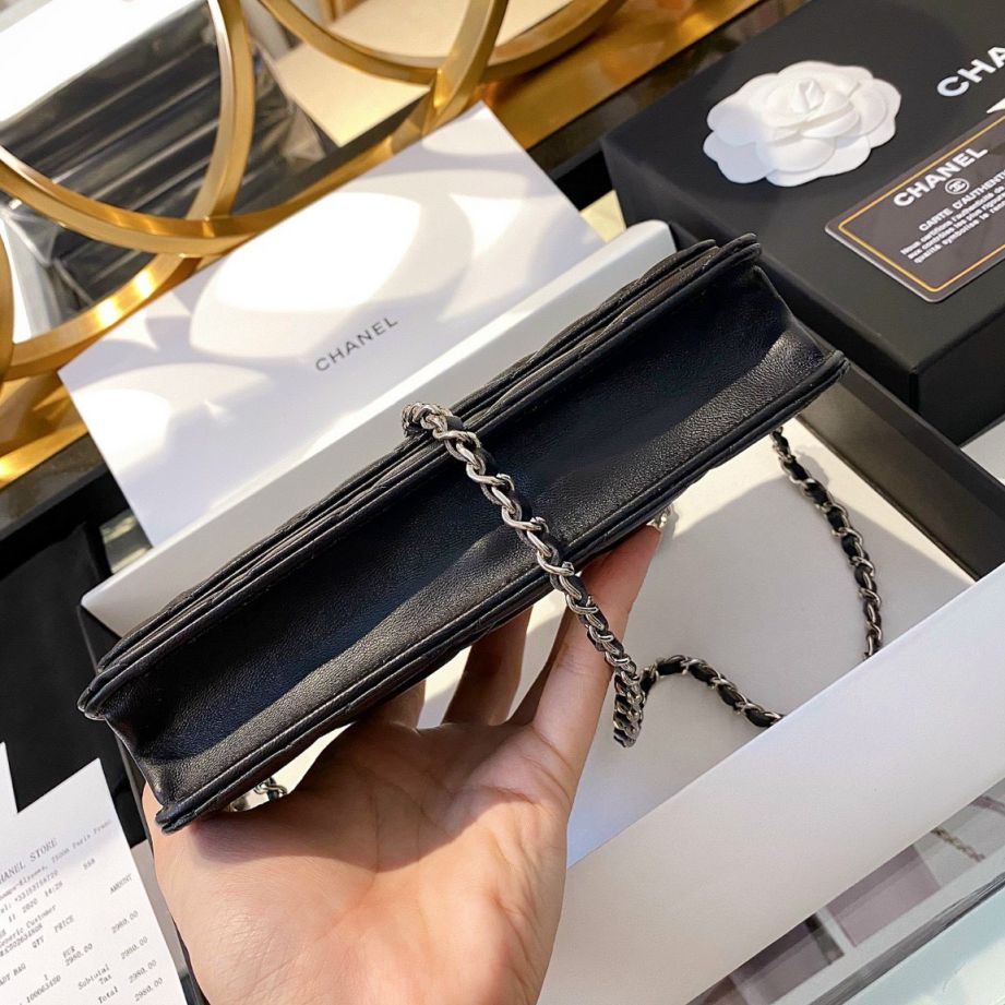 Chanel Classic Wallet On Chain – Đen Mịn