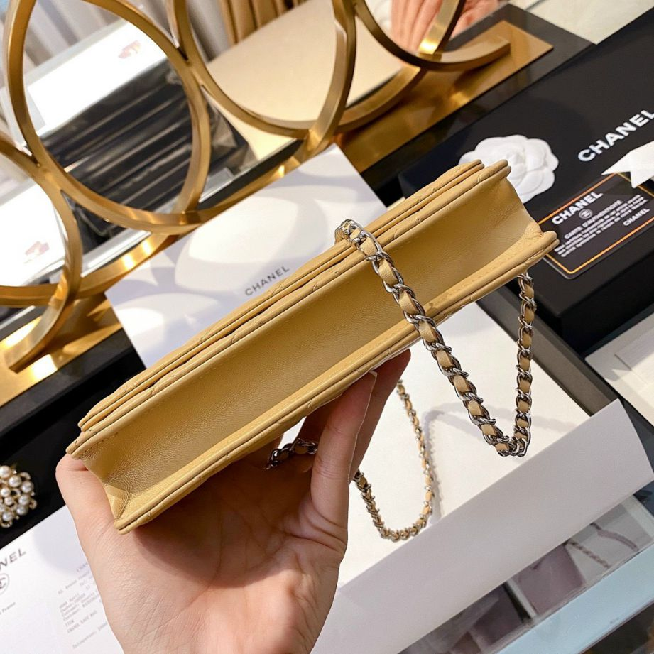 Chanel Classic Wallet On Chain – Vàng Mịn