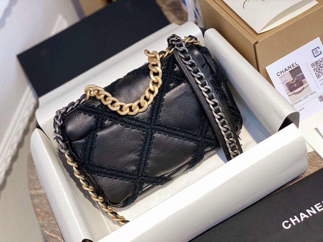 Túi Xách Chanel 19 Flap Bag – Caro Đen