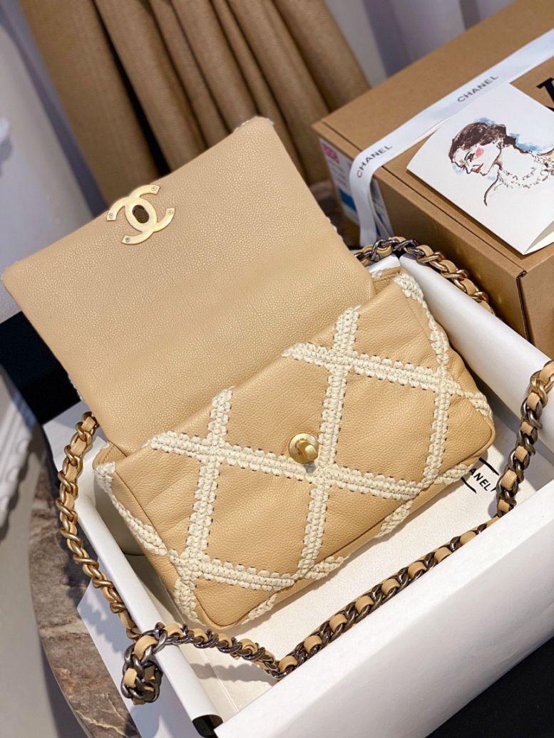 Túi Xách Chanel 19 Flap Bag – Caro Vàng