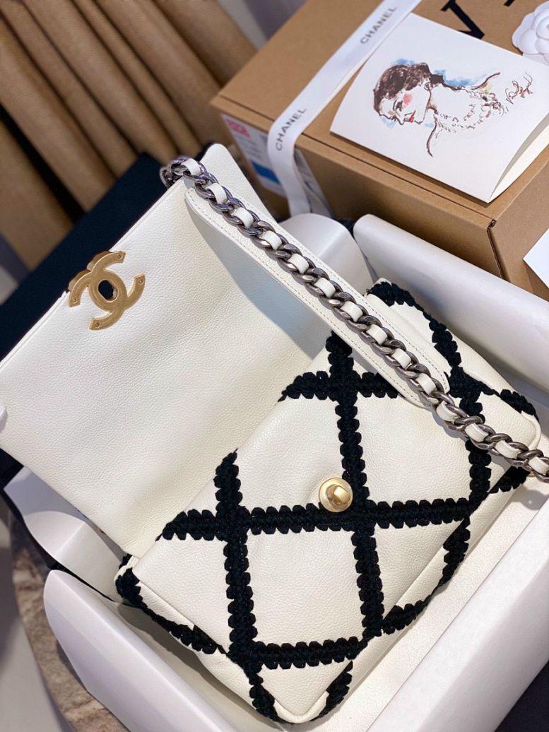 Túi Xách Chanel 19 Flap Bag – Caro Trắng
