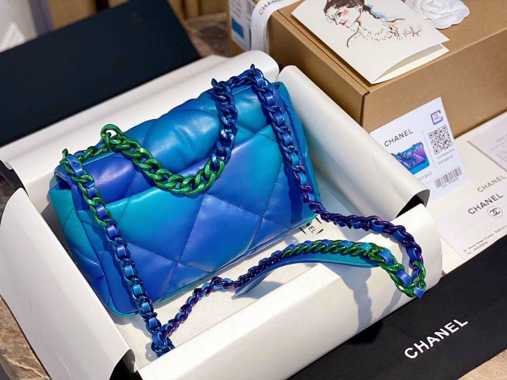 Túi Xách Chanel 19 Flap Bag – Loang Xanh