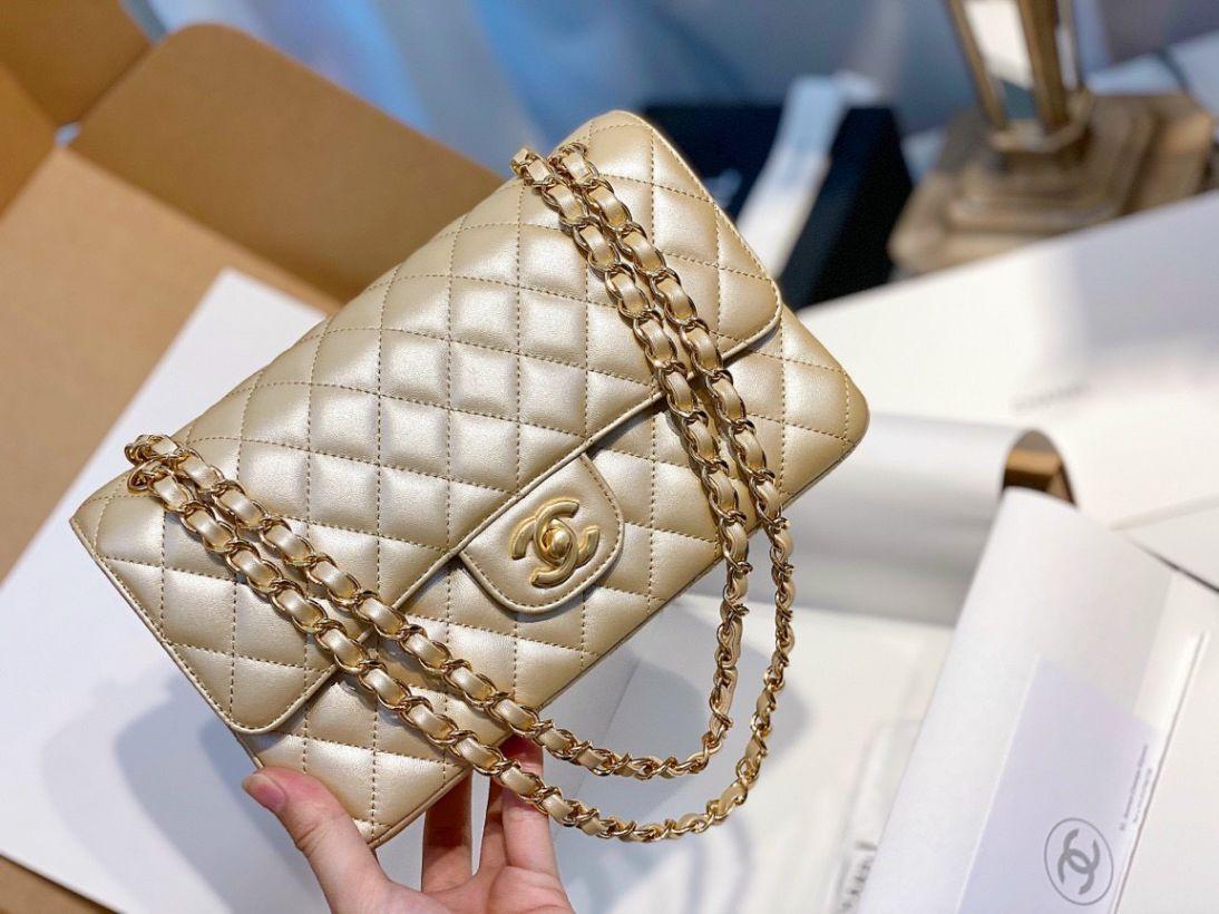 Túi Xách Chanel Classic Gold Metal