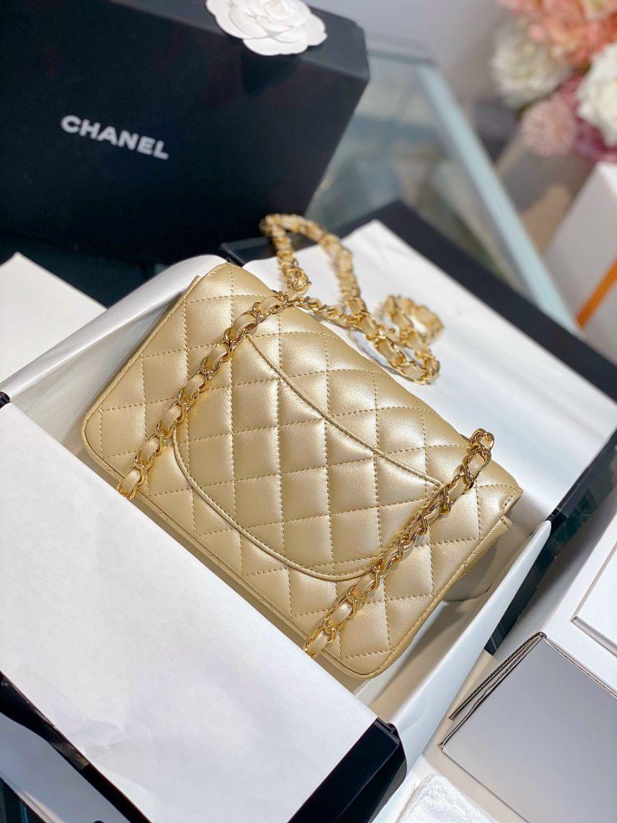 Túi Xách Chanel Classic Mini Gold