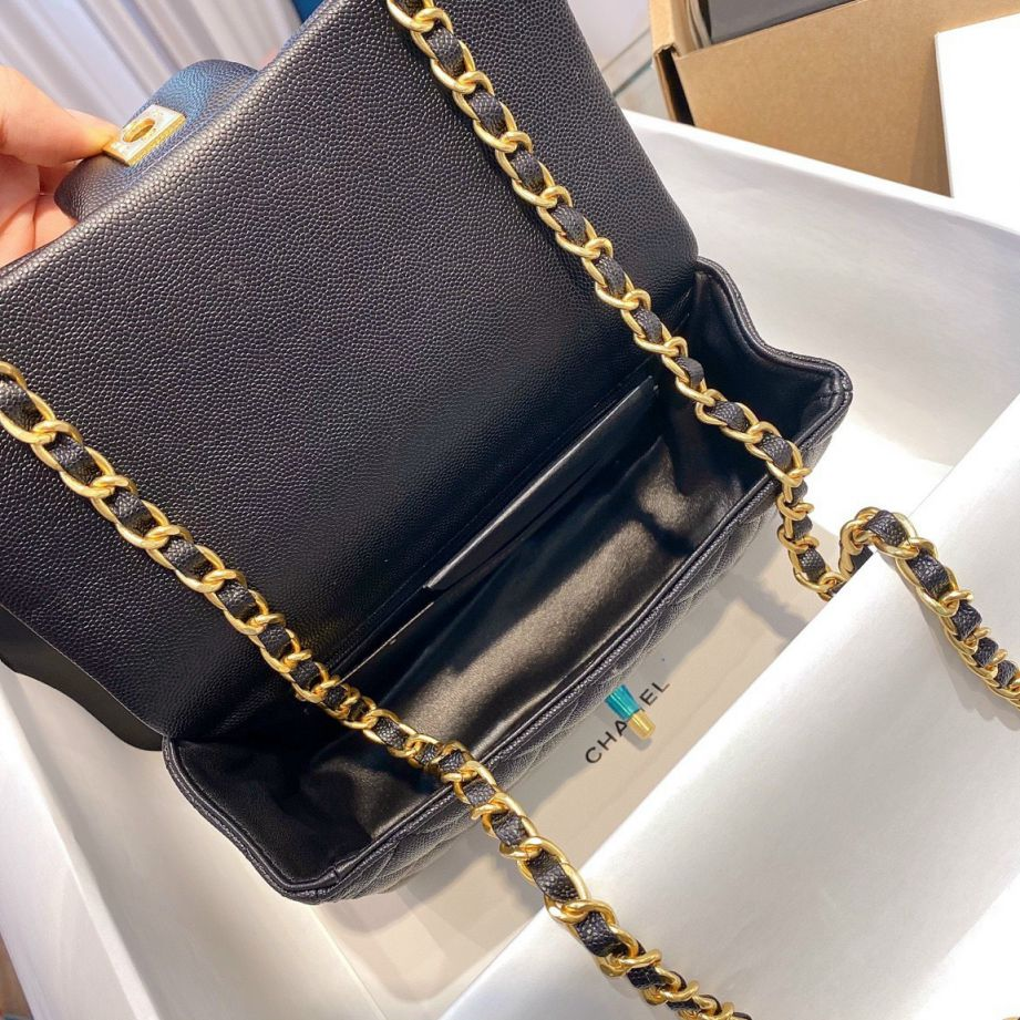 Chanel Mini Flap Bag With Top Handle - Đen