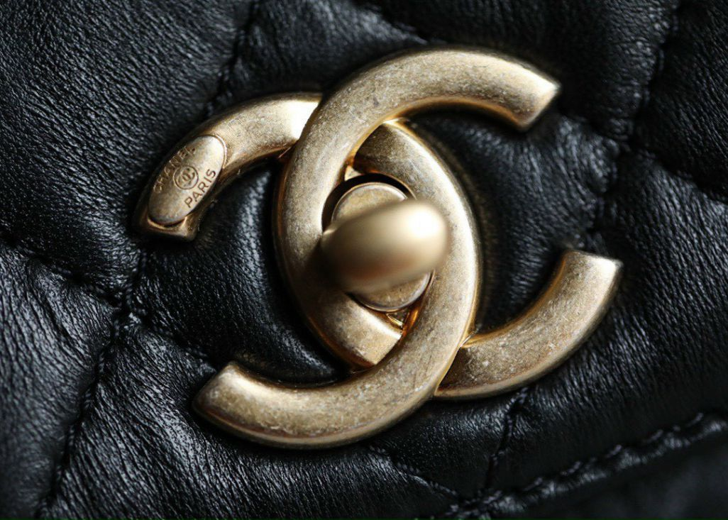 Chanel Small Flap Bag With Top Handle - Đen