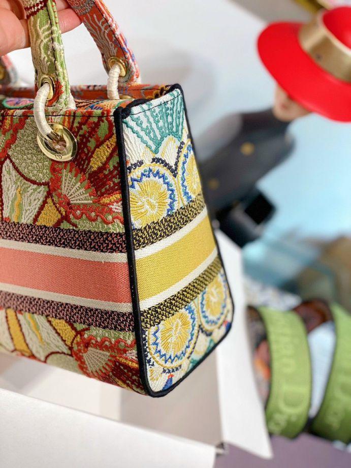 Túi Xách Dior Medium Lady D-Lite Bag - Cam