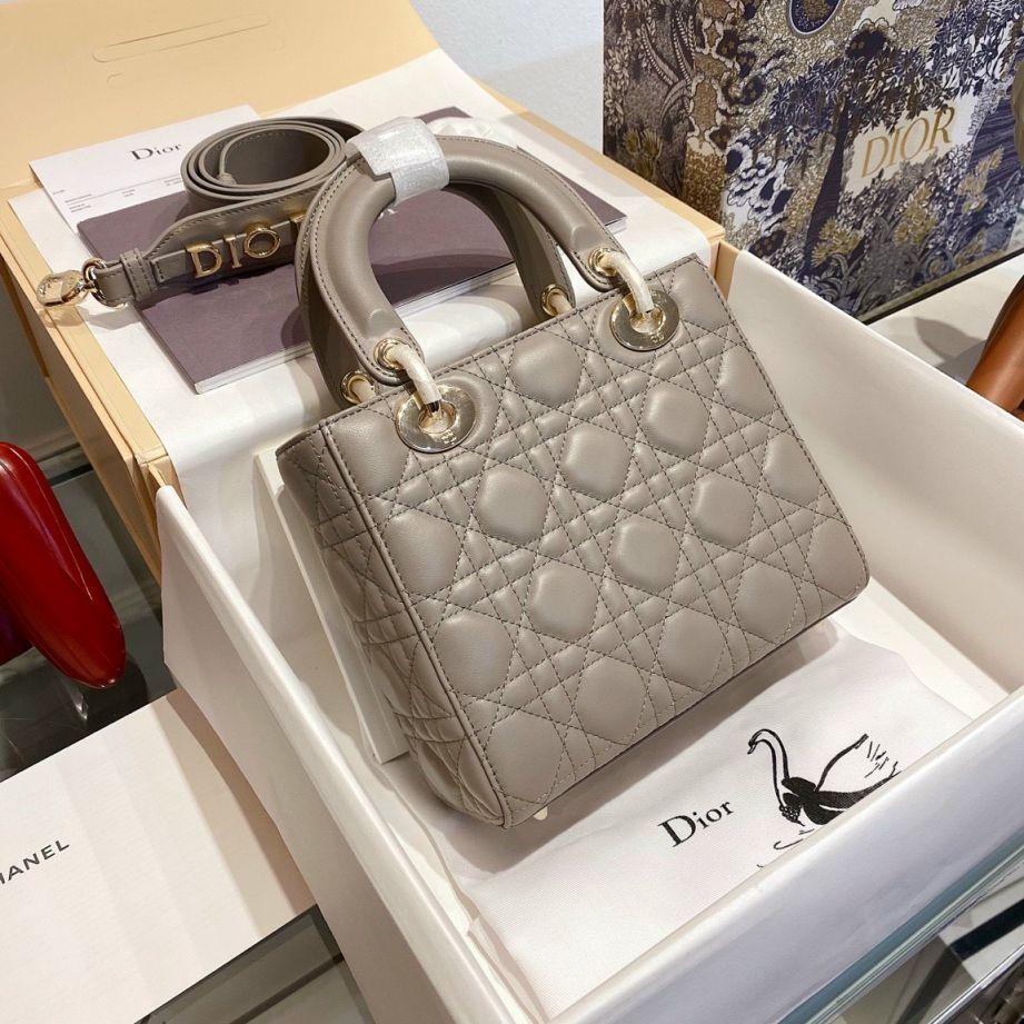 Túi Xách Christian Dior Lady - Ghi