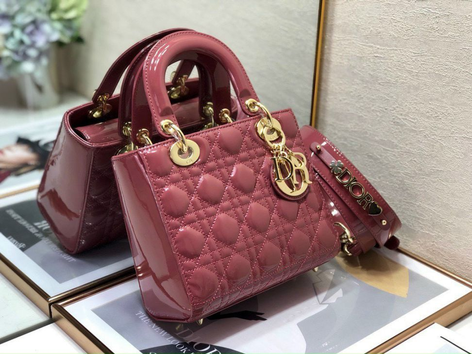 Christian Dior Lady – Hồng Ruốc Da Bóng