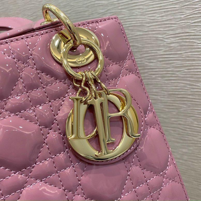 Túi Xách Christian Dior Lady – Hồng Da Bóng