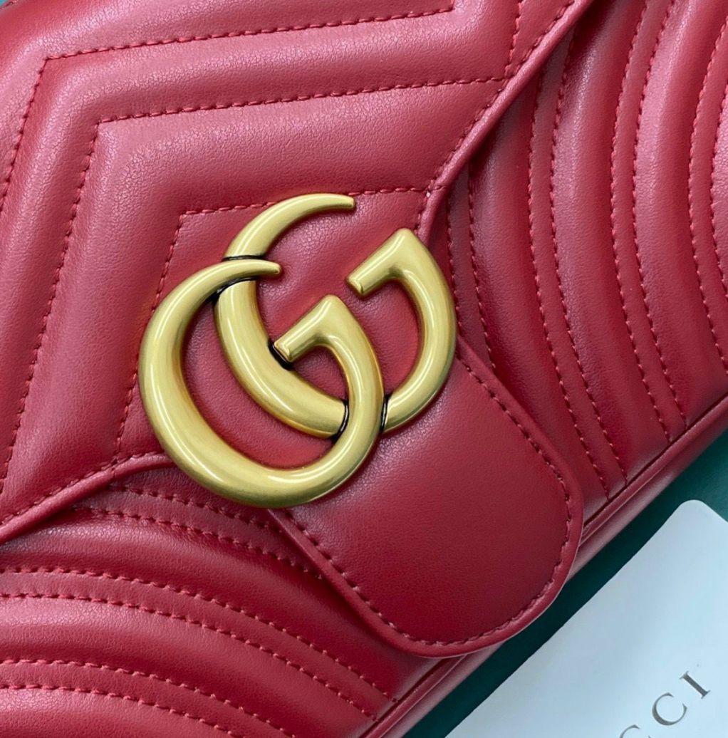 Gucci Marmont Matelasse Bag – Đỏ