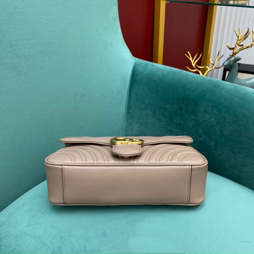 Gucci Marmont Matelasse Bag – Nude
