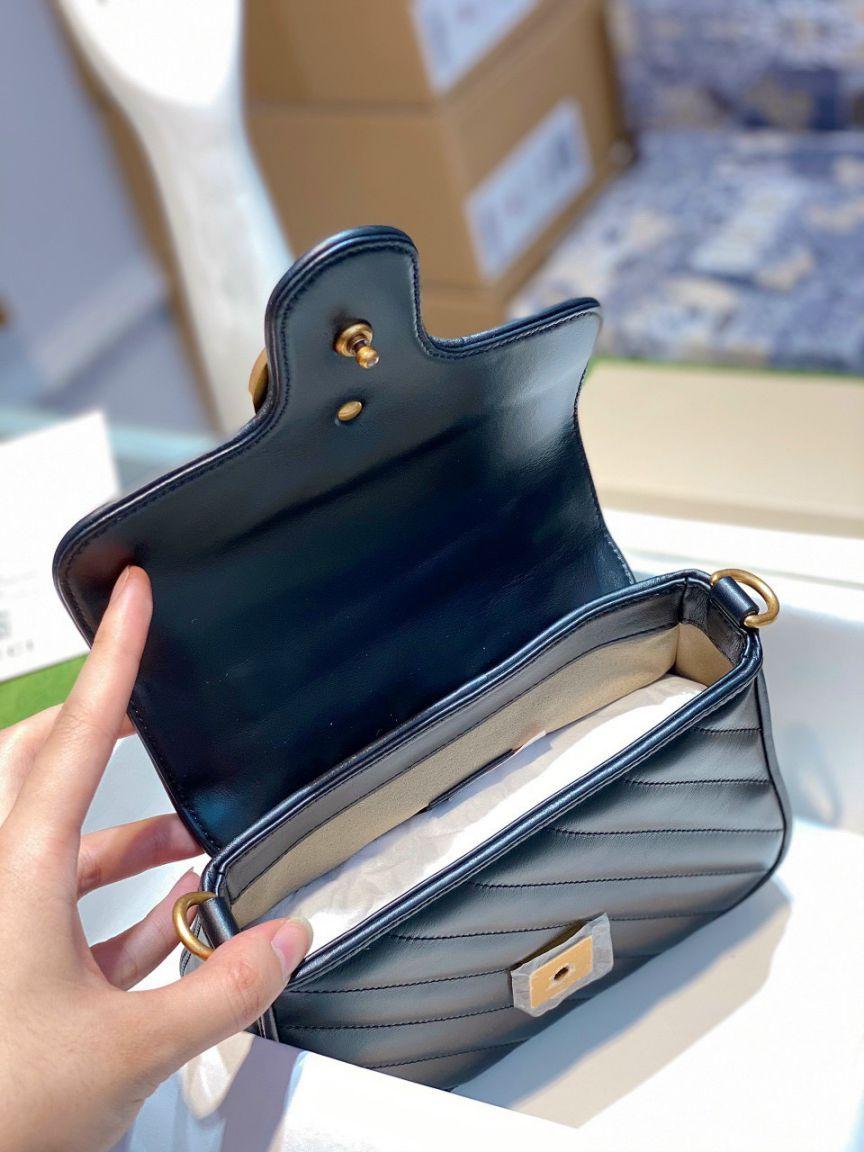 Gucci Marmont Top Handle Bag – Đen
