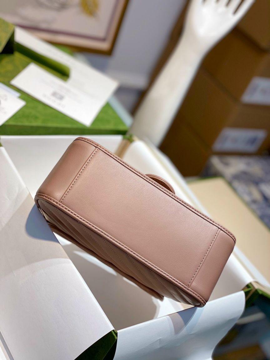 Gucci Marmont Top Handle Bag – Hồng Nude