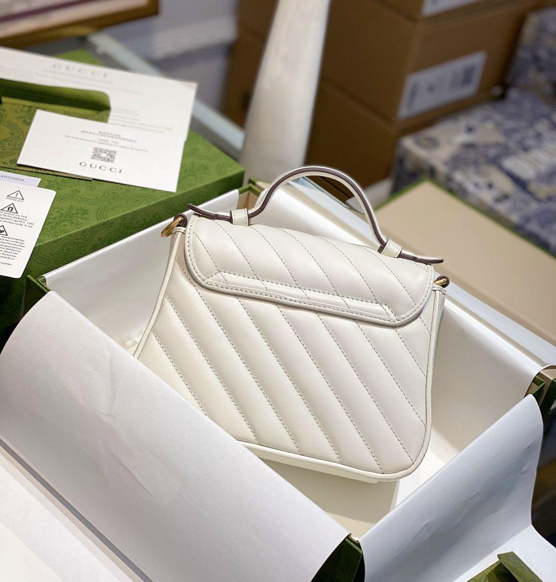 Gucci Marmont Top Handle Bag – Trắng