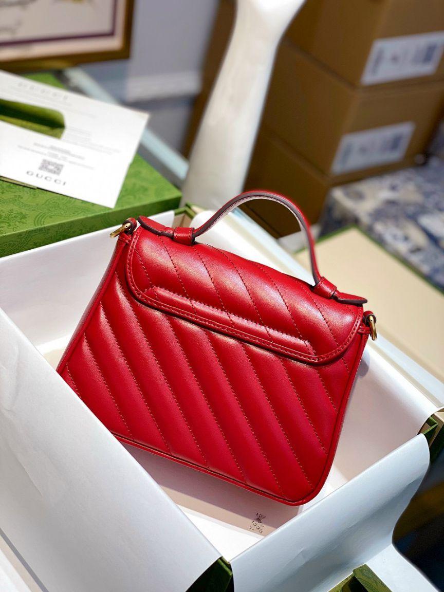 Gucci Marmont Top Handle Bag – Đỏ