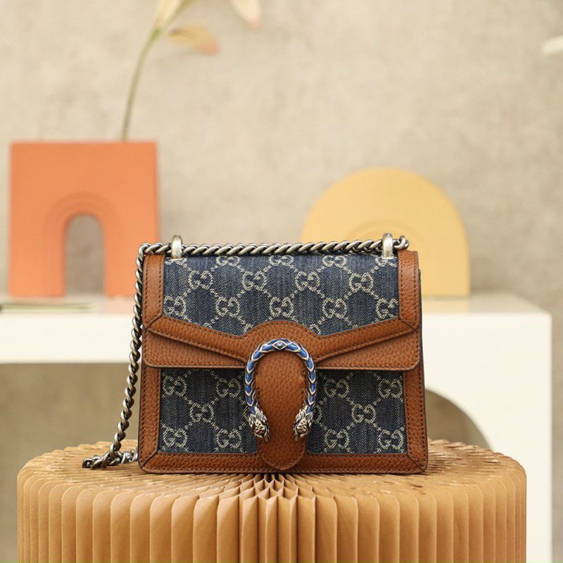 Gucci Demin Dionysus Small Shoulder Bag Size 20