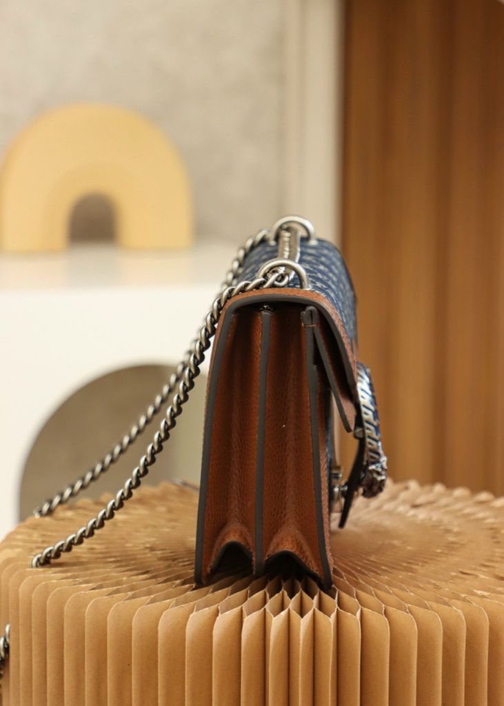 Gucci Demin Dionysus Small Shoulder Bag Size 28