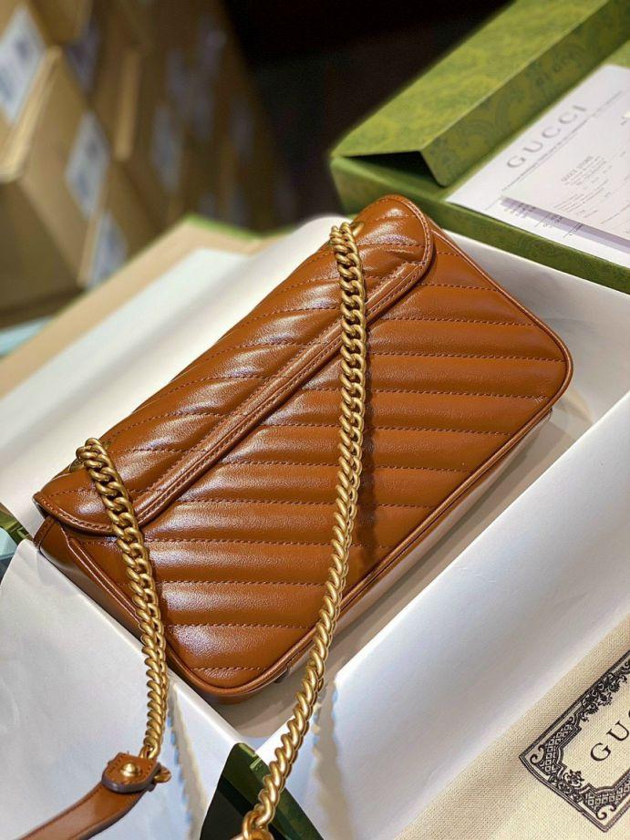 Gucci Marmont Matelasse Bag – Nâu Tây Size 26