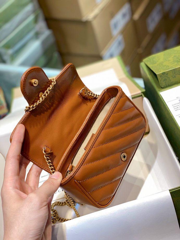 Gucci Marmont Matelasse Bag – Nâu Tây Size 16