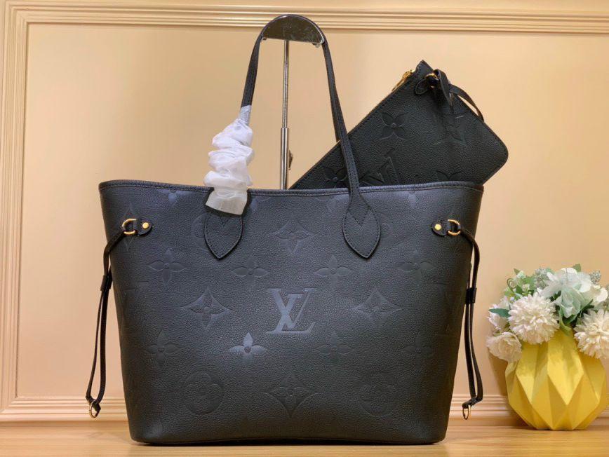 LV Neverfull MM Tote Bag - Đen