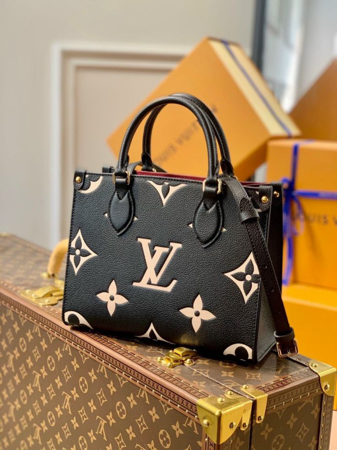 LV Onthego PM Tote Bag – Đen Be