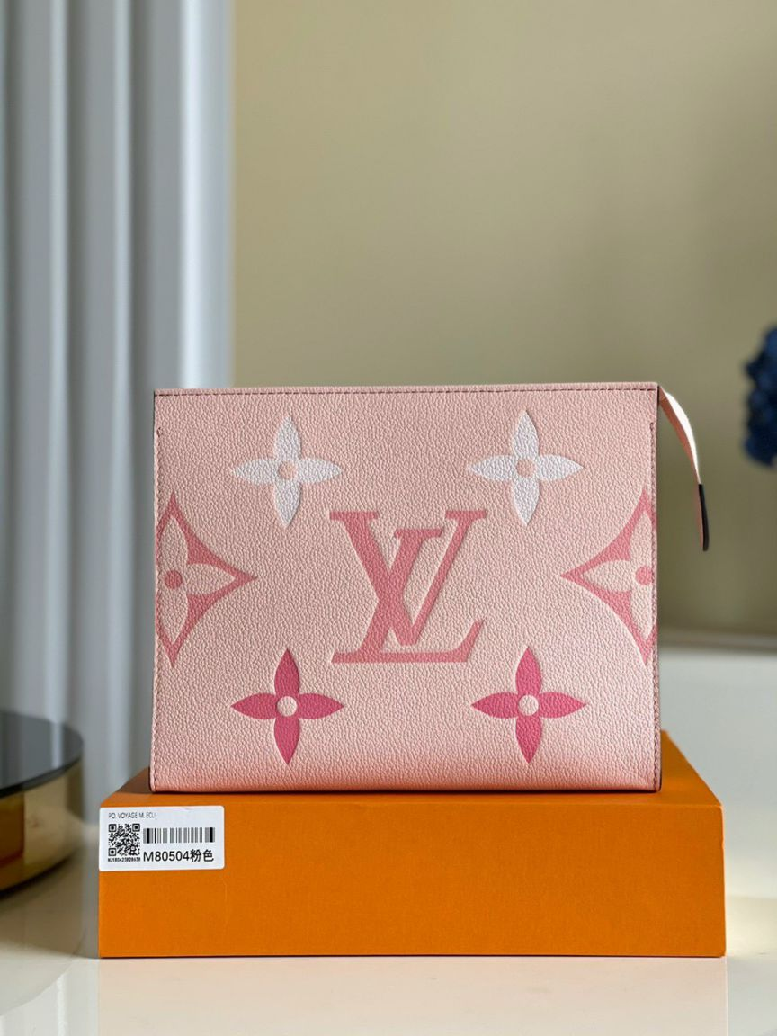 LV Toiletry Pouch 26 – Hồng