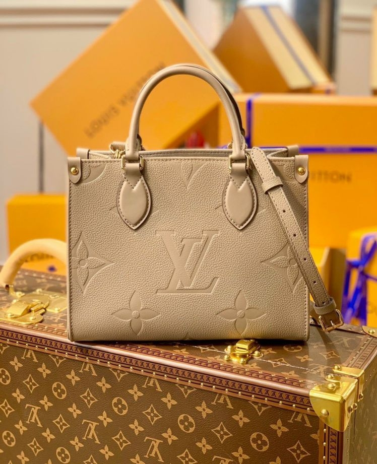 LV Onthego PM Tote Bag – Nude