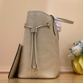 LV Neverfull MM Tote Bag - Nude
