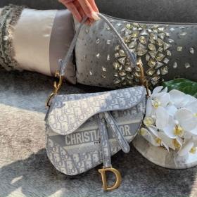 Túi Xách Christian Dior Saddle - Xám