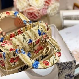 Túi Xách Dior Medium Lady D-Lite Bag - Vàng