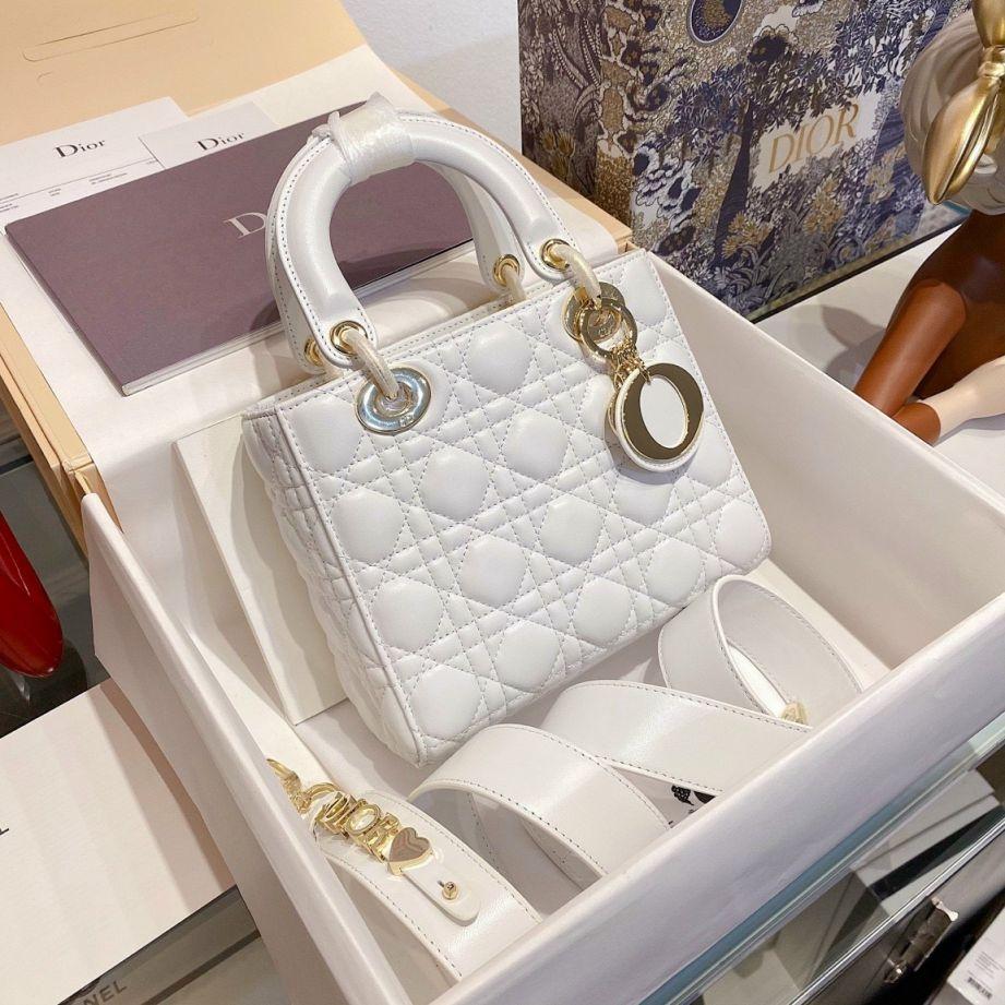 Túi Xách Christian Dior Lady - Trắng